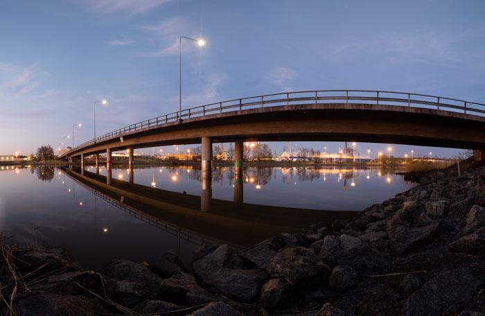 night panorama, bridge